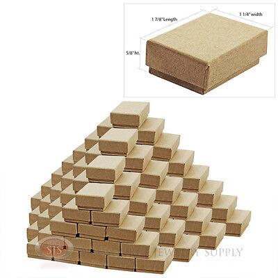 100 Kraft Cotton Filled Jewelry Gift Boxes 1 78 X 1 14 Pendant Charm Box