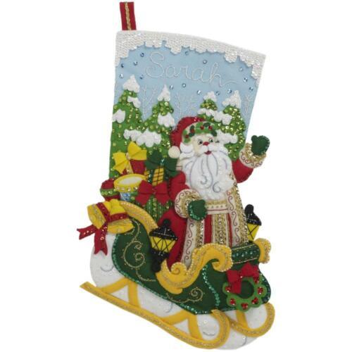Bucilla Felt Christmas Stocking Stitchery Kit, Santa