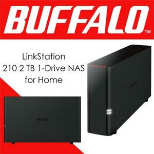 NEW Buffalo LinkStation 210 2 TB 1-Drive NAS for Home (LS210D0201) Condtion: New, LinkStation 200 1 Drive Bay, 2 TB