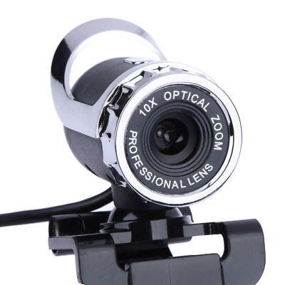 Webcam Usb High Definition Camera 360 Degree Mic Clip-on Skype Computer 640x480 ()