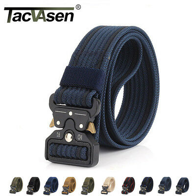 TACVASEN Heavy Duty Mens Tactical Belt Military Combat Sports Training Gear Belt (Duty Belt Gear)