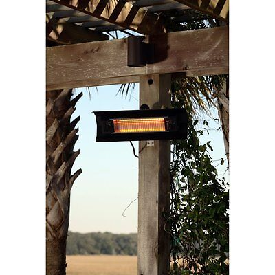 Fire Sense Black Steel Wall Mounted Infrared Patio Heater, 7