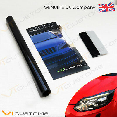 30 x 100cm Light Smoke Headlights Tinting Film Vinyl Car Lights + FREE SQUEEGEE