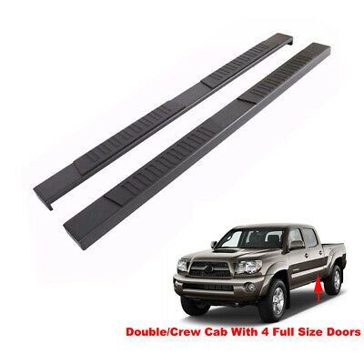 78in Bars - 78in Black Running Boards For 05-19 Tacoma Double/Crew Cab Side Step Nerf Bars