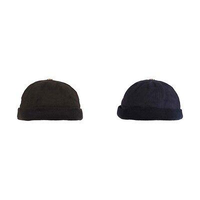 Watchcap  Roundcap Rundkappe Mütze Haube Hut ohne Schild Strickrand Baumwolle - Stricken Watch Cap