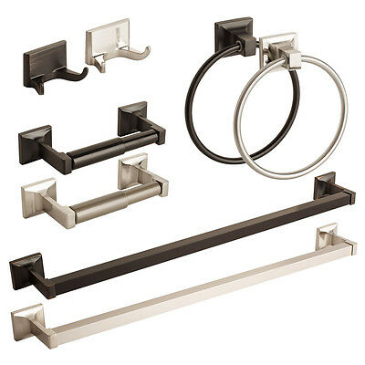 Modern Bathroom Hardware Set Bath Accessories Towel Bar Ring Toilet Paper Holder