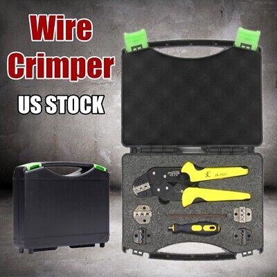 4 In 1 Ratcheting Terminal Crimper Tool Set -wire Ferrules Crimping Screwdriver