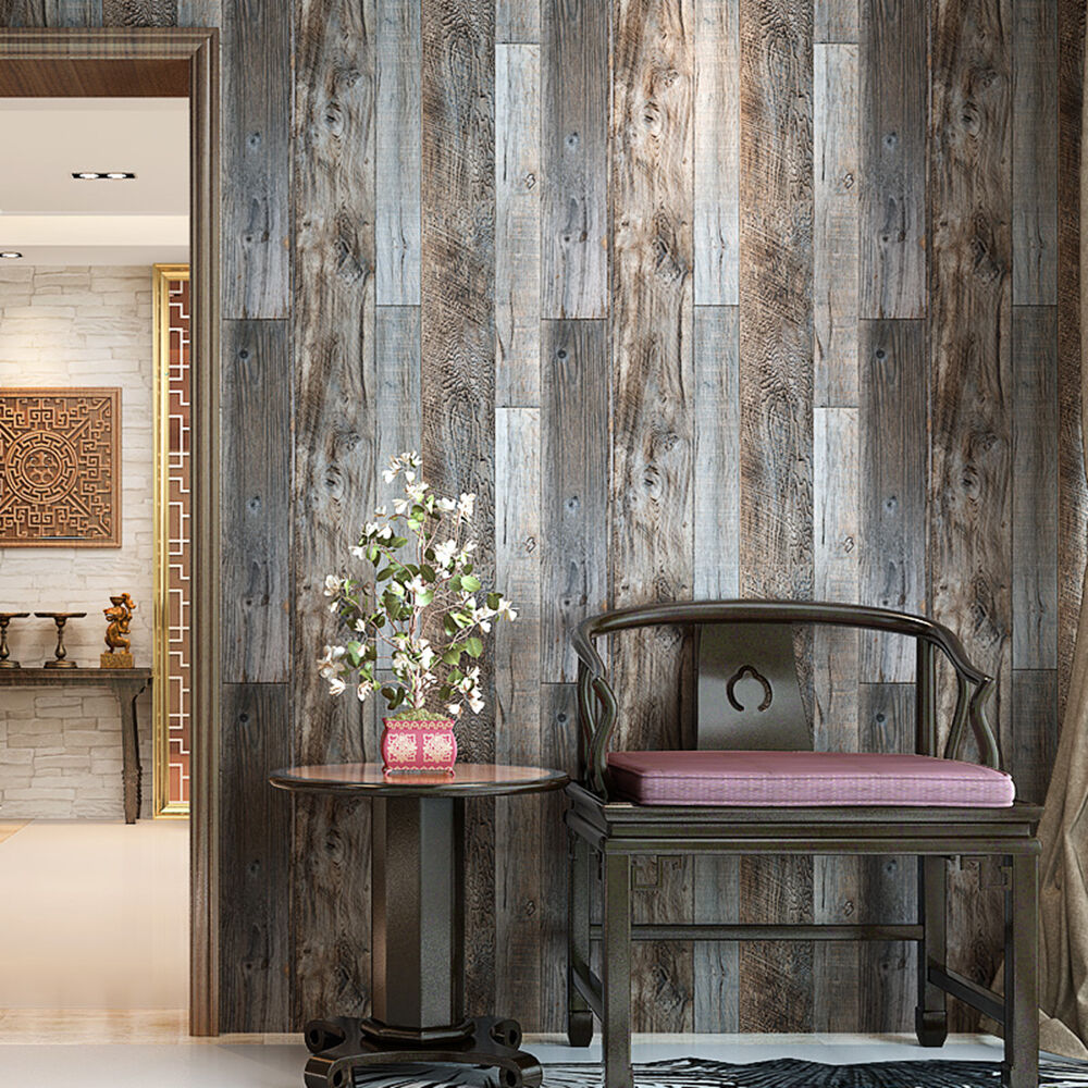 vintage wood wallpaper rolls turquoise blue sand brown wooden vintatge woods panels wallpaper rolls wall mural slategray brown barnwood paper