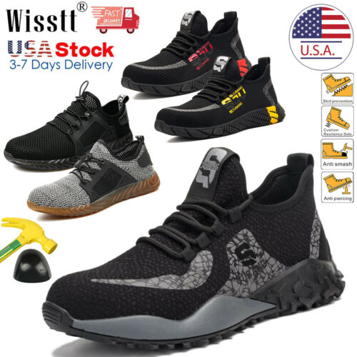 Mens Work Boots Safety Shoes Steel Toe Sneakers Indestructib