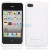 iPhone 4 External Battery Case White