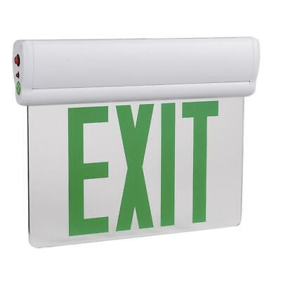 Led Emergency Exit Sign Light - 3w - Ul-94v-0 Listed With Battery Back-up