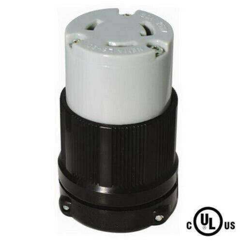 30 Amp 250 Volt Female Twist Lock 3 Wire Power Cord Plug Nema L6-30R UL