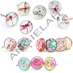 Set packs glass vintage ceramic knobs handle kids bathroom cabinet diy novelt - Poignee meuble vintage ...