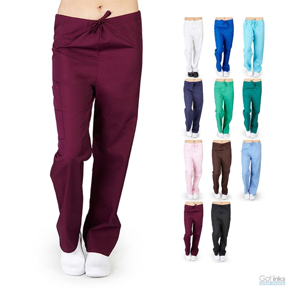 Unisex Men/Women Classic Full Drawstring Scrub Pants Hospita
