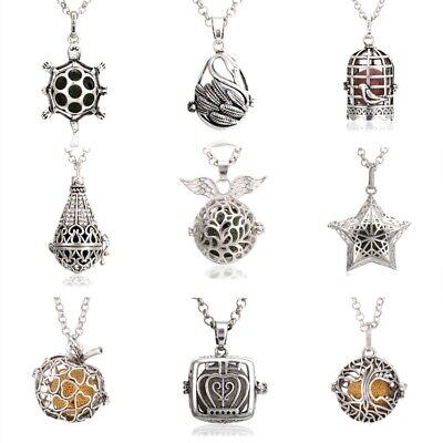 Angel Diffuser Necklace - More Style Mexican Bola Angel Caller Lava Essential Oil Diffuser Locket Necklace