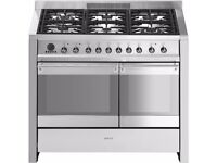 Smeg double oven gas cooker and cooker hood