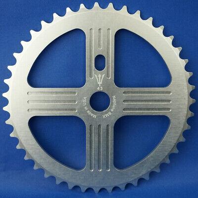 Neptune Helm BMX Aluminum Sprocket 44t Silver 19mm Chainwheel USA Made