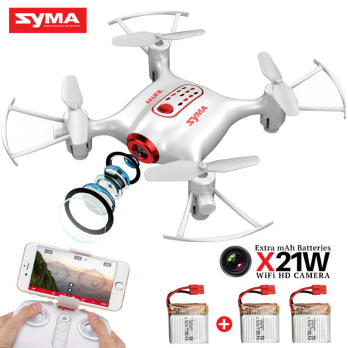 Mini RC Drone Quadcopter SYMA X21W 3MP FPV WiFi Camera Hover One Key Take Off