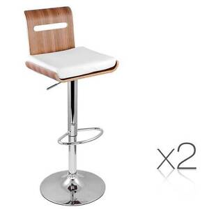 Free Delivery: Set of 2 Wooden Bar Stool Kitchen Chair Niomi Nat Box Hill Whitehorse Area Preview