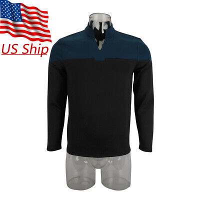 2019 Star Trek Picard Startfleet Uniform New Cosplay Science Blue Shirt Costume - Startrek Costume