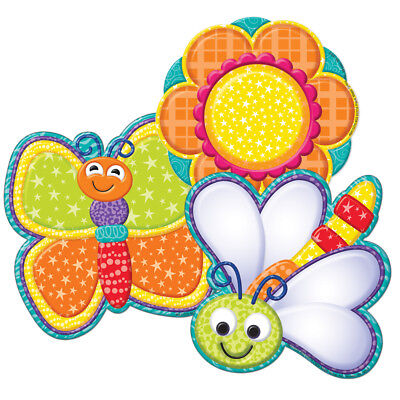 EU 841107 Colorful Butterfly and Flower Cut Outs Spring Classroom Decorations - Spring Classroom Decorations