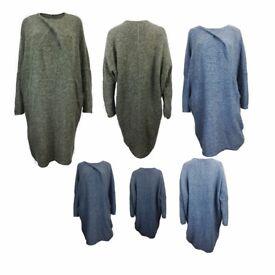 AMAVISSE UK - NEW Women Winter Irregular Casual Loose Sweater Jacket Poncho Coat