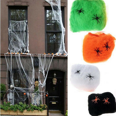 Fake Spider Web Halloween Full line of pure white spiderweb Wonderful Ornament](Fake Spider Webs Halloween)