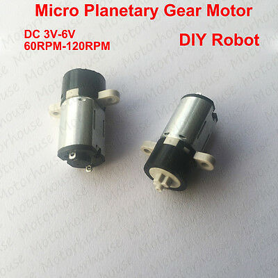 Mini 3v-6v 120rpm Dc Motor Coreless Planetary Gear Reducer Micro Motor Diy Robot