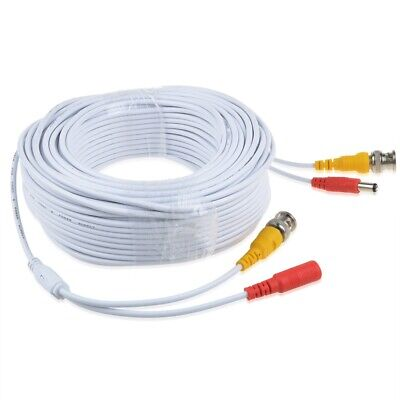 Vani 100ft BNC Extension Power Cable Cord for Samsung Wisenet SDH-B74081 Camera 100' Camera Extension Cable
