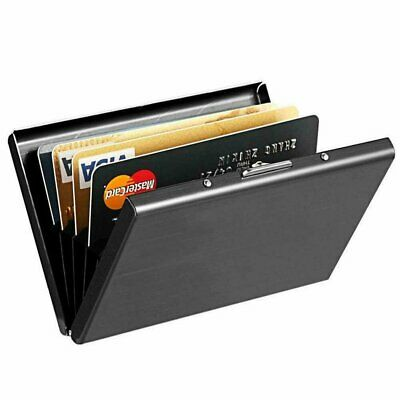 Credit Card ID Holder Slim Money Travel Wallet Men Stainless Steel RFID Blocking Clothing, Shoes & Accessories