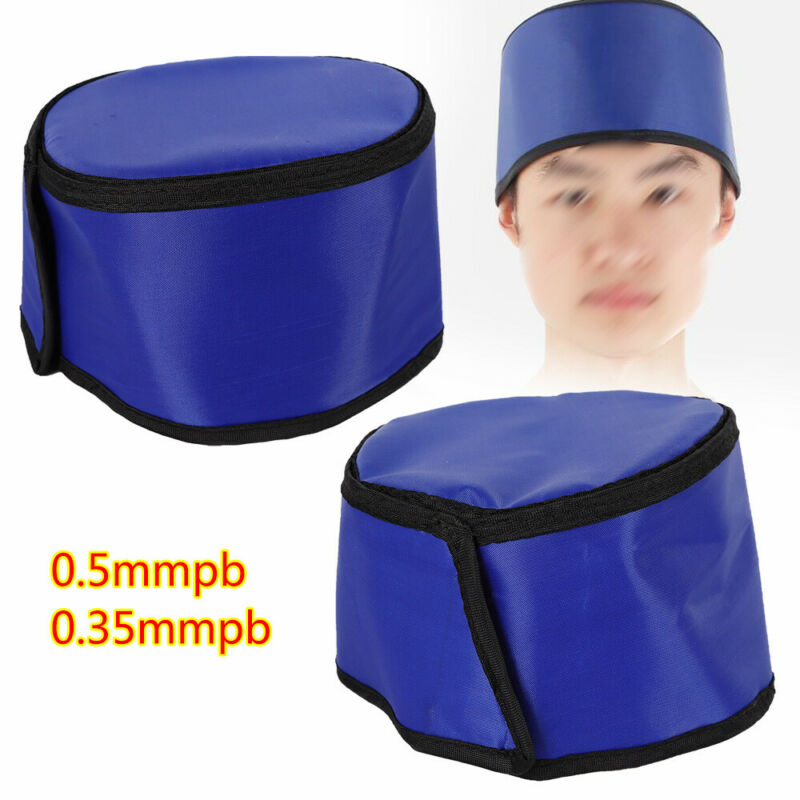 Lead Cap Head Shield For X-ray Inspection Radiation Protective Blue Cap 0.35mmpb