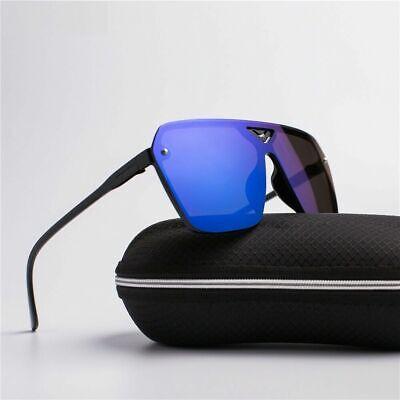 Mode Übergröße Herren Sonnenbrille Trend Gespiegelt Plastik Rahmen Günstig Luxus
