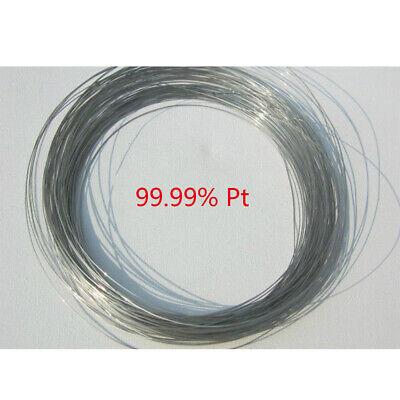 1pcs 99.99 Purity Platinum Pt Metal Wire Diameter 0.3mm Length 100mm