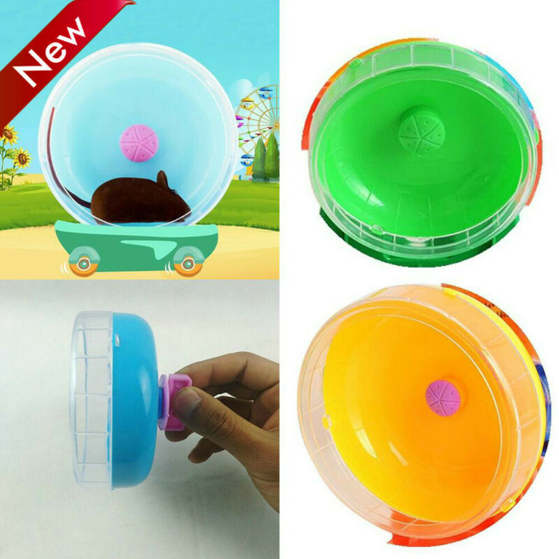 1pc Hamster Wheel Toy Cute Plastic Exercise Round Wheel Roller Silent Toy
