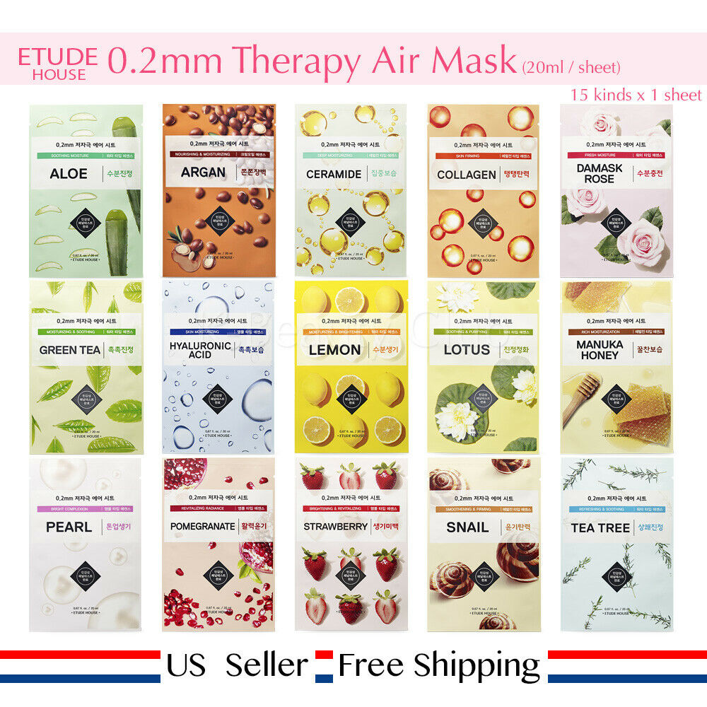 Etude House 0.2 Therapy Air Mask choose your potion + Free S