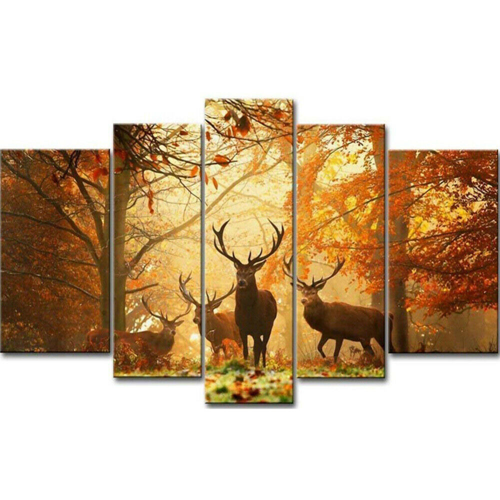 Full Drill 5D Diamond Painting Forest Elk Cross Stitch Kit Embroidery Home Decor