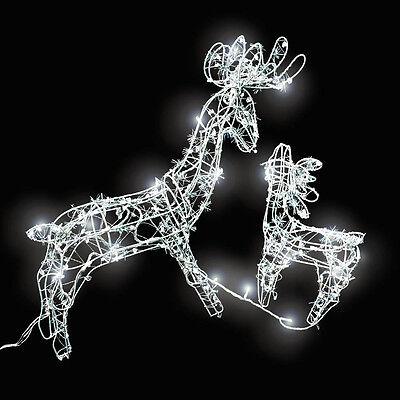 Illuminazione natalizia per esterni esterno giardino 2 renna con luci ghirlanda