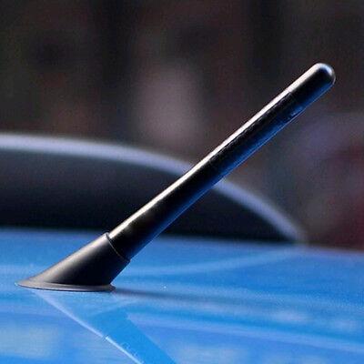 4.7inches Universal Car Antenna Carbon Fiber Radio FM Antena Black Kit + Screw