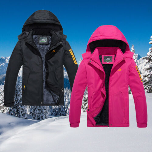 Women's Waterproof Snow Jacket Fleece Lined Winter Hiking Mountain Warm Coat New
