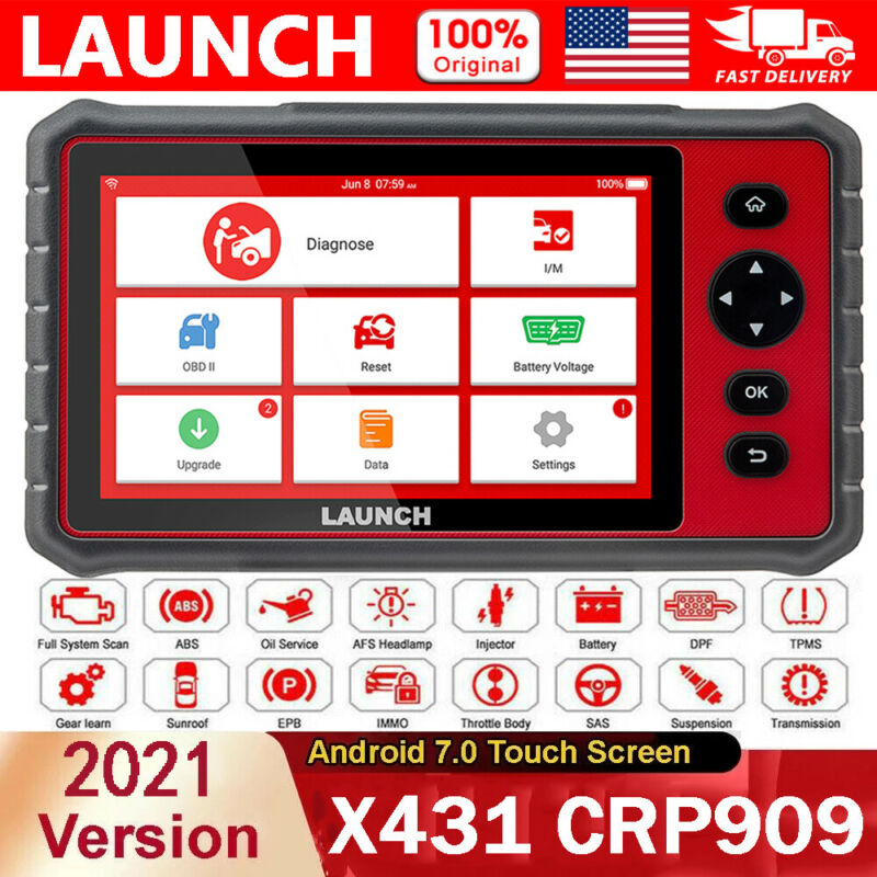 Launch CRP909 Automotive Professional Scanner Full System Car Diagnostic Tool