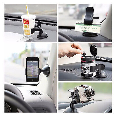 Auto Car Accessories Universal 360° Rotating Phone Windshield Mount GPS Holder ()