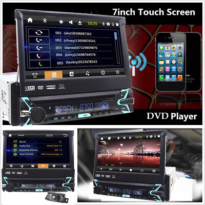 Usado, 7''HD Touch Screen 1DIN Bluetooth Car DVD Player Stereo Radio FM USB with Camera segunda mano  Embacar hacia Mexico