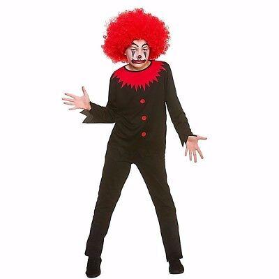Child FREAKY CLOWN Boys Circus Fancy Dress Costume Spooky Scary Horror Halloween