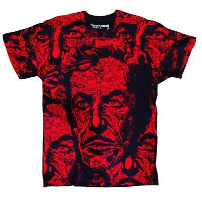 Vincent Price XL Graphic Tee T Shirt Classic Horror Gothic Halloween Black Red