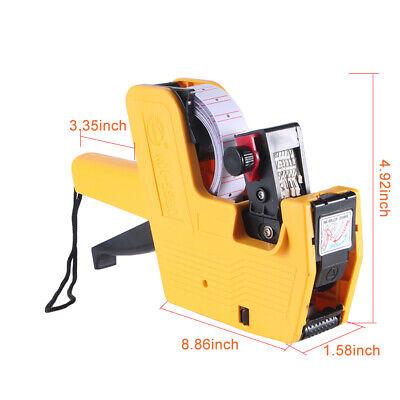 Mx-5500 Labeler Price Tag Gun 8 Digits Abs Plastic For Shops
