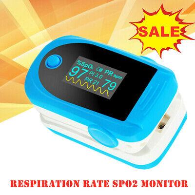 Oled Finger Pulse Oximeter Respiration Rate Spo2 Monitor Blood Oxygen Meter Pr