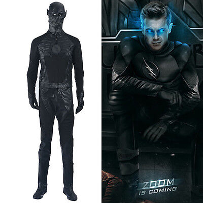 DFYM The Flash Season 2 Zoom Cosplay Costume Deluxe Leather Outfit (Flash Outfit)