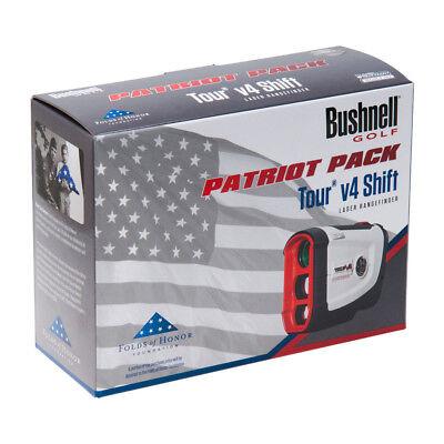 Bushnell Tour V4 Shift Patriot Pack Golf Laser Rangefinder w Case & Battery
