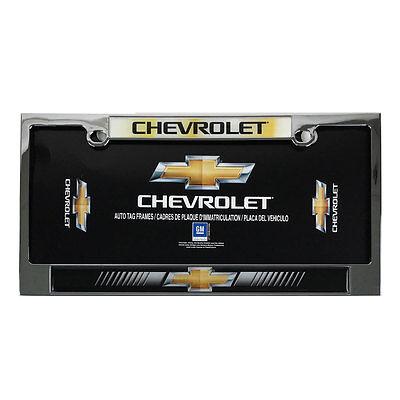 New CHEVY Bowtie Elite Heavy Duty Chrome Metal Car Truck Suv License Plate Frame Chevy Heavy Duty Truck