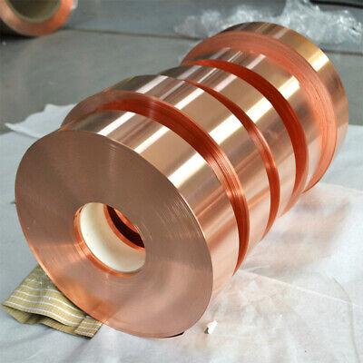 1pcs 0.3mm X 10mm X 1000mm 99.9 Pure Copper T2 Cu Metal Sheet Foil Plate Strip